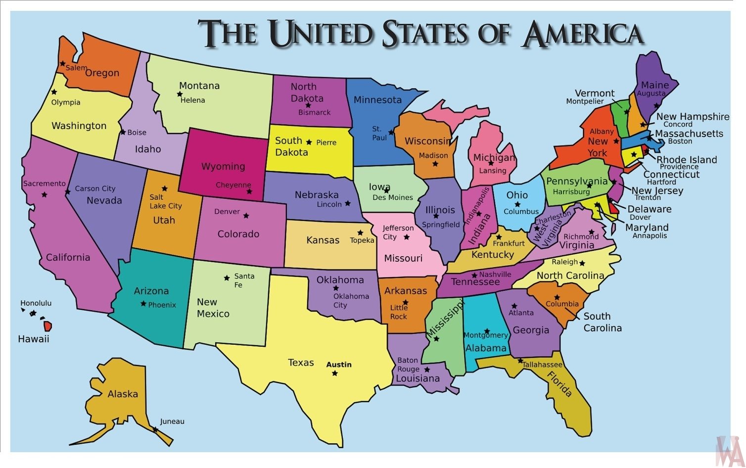Us Political Map With Capitals Contemporary Art Websites With Us