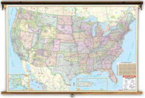 universal enlarged political  Map of the United States
