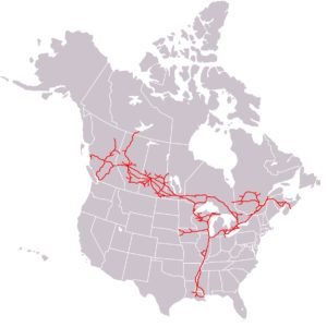 us canada national railway map