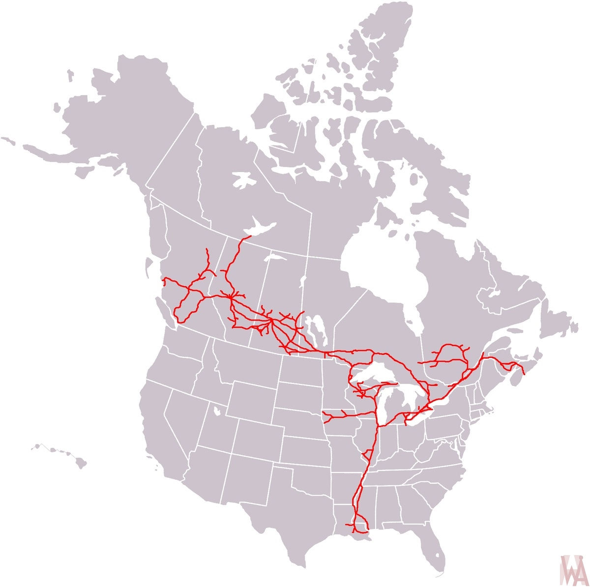 us canada national railway map WhatsAnswer