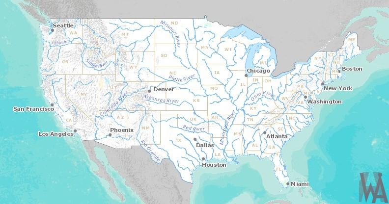 USA river map | WhatsAnswer