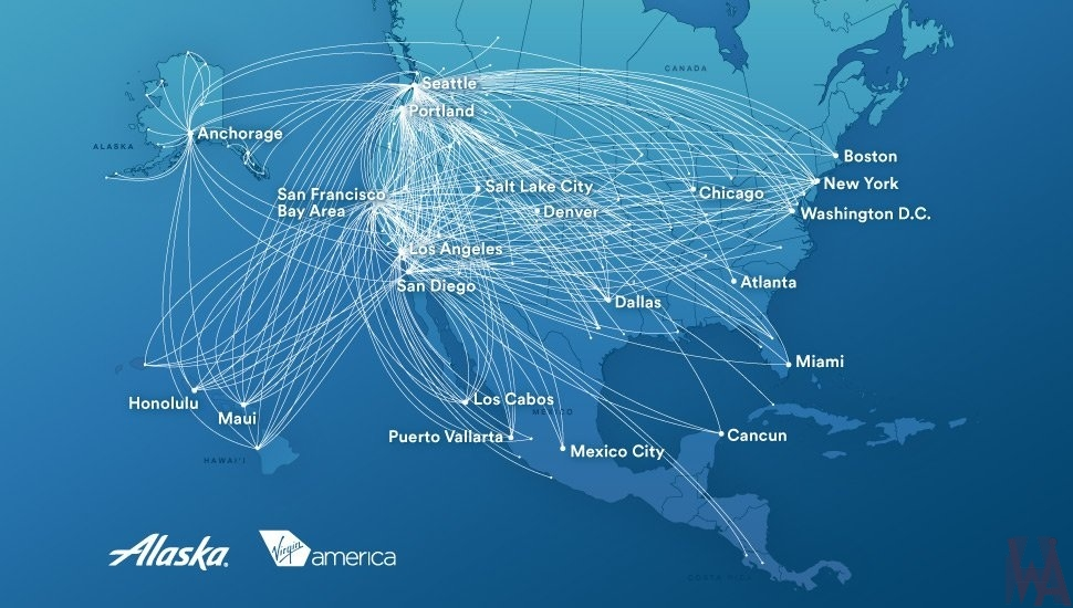 Air Route map of Alaska