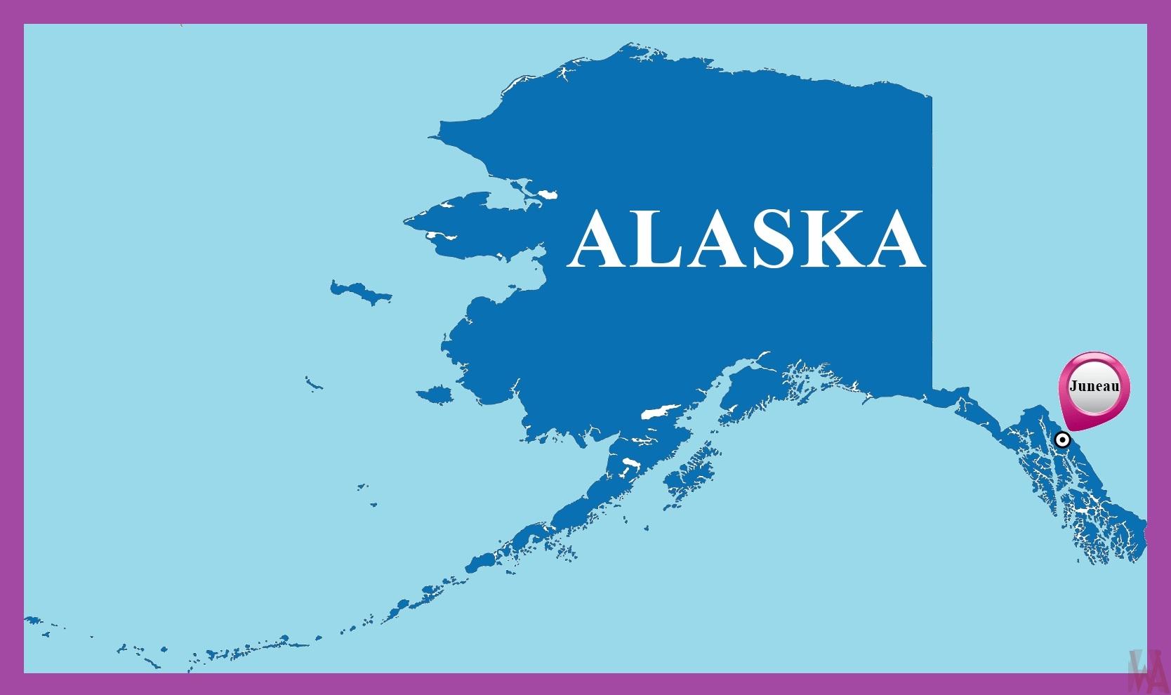 Alaska Capital Map |  Capital  Map of Alaska