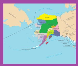 Alaska Color County Map |  Color County Map of Alaska -2