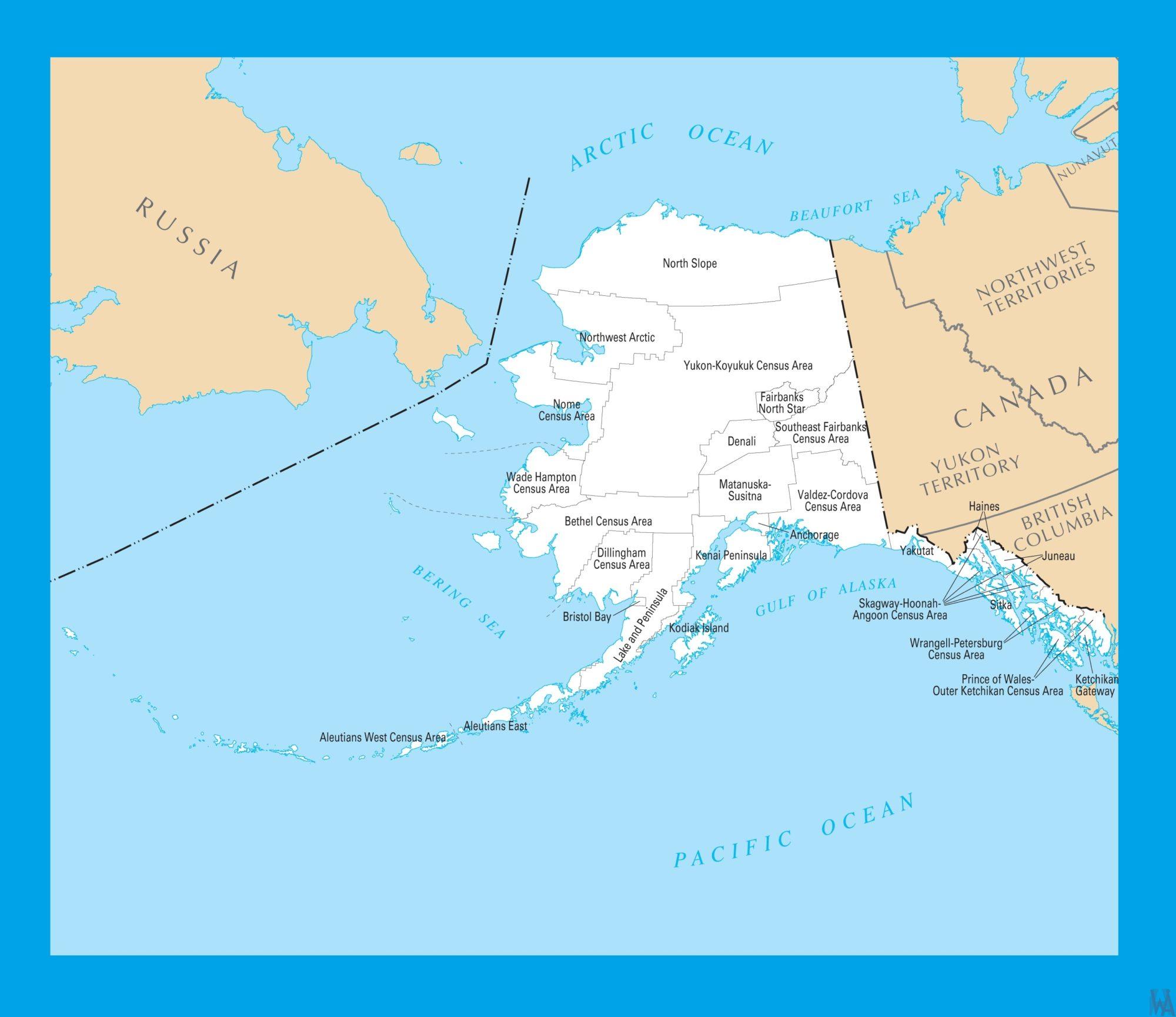 Alaska County Map |  County Map of Alaska