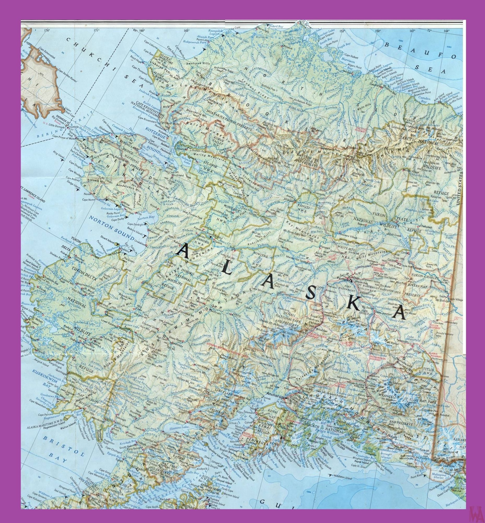 Alaska Maps with states and cities WhatsAnswer