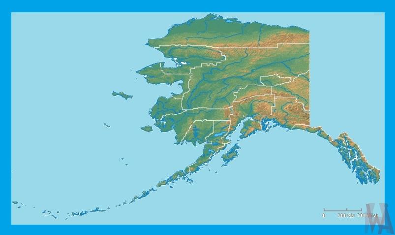 Alaska Physical Map |  Physical  Map of Alaska