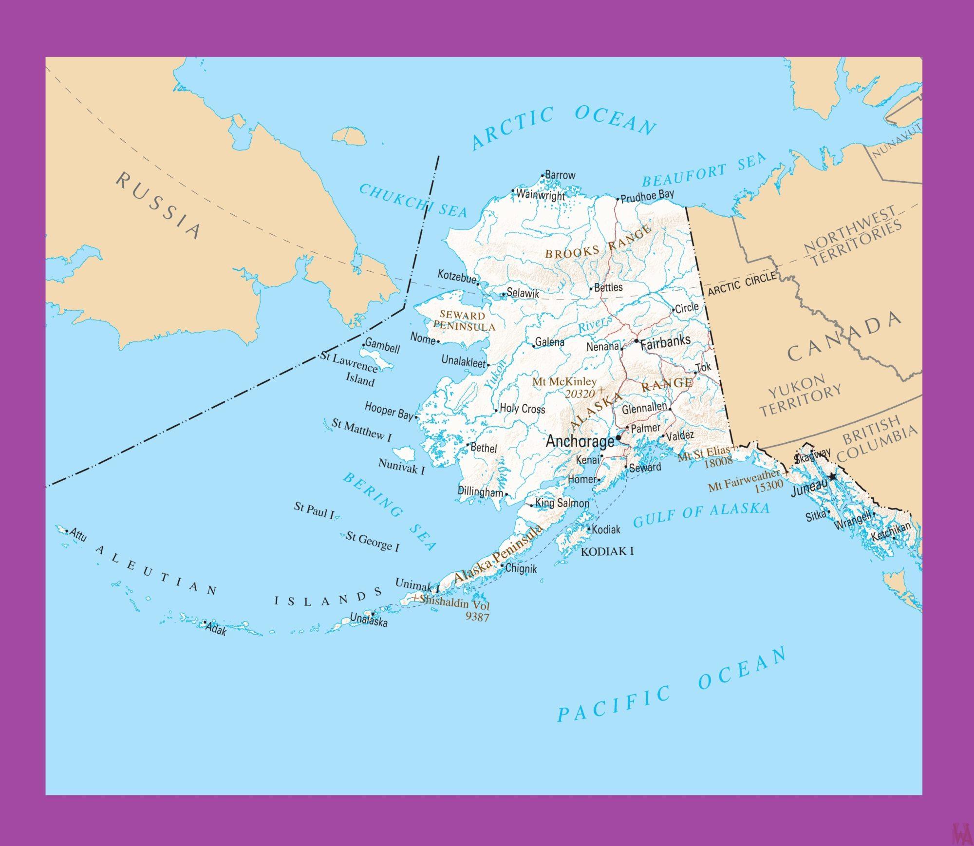 Alaska Political Map  | Political  Map of Alaska – 2