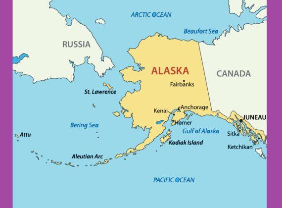 Alaska Political Map Political Map of Alaska WhatsAnswer