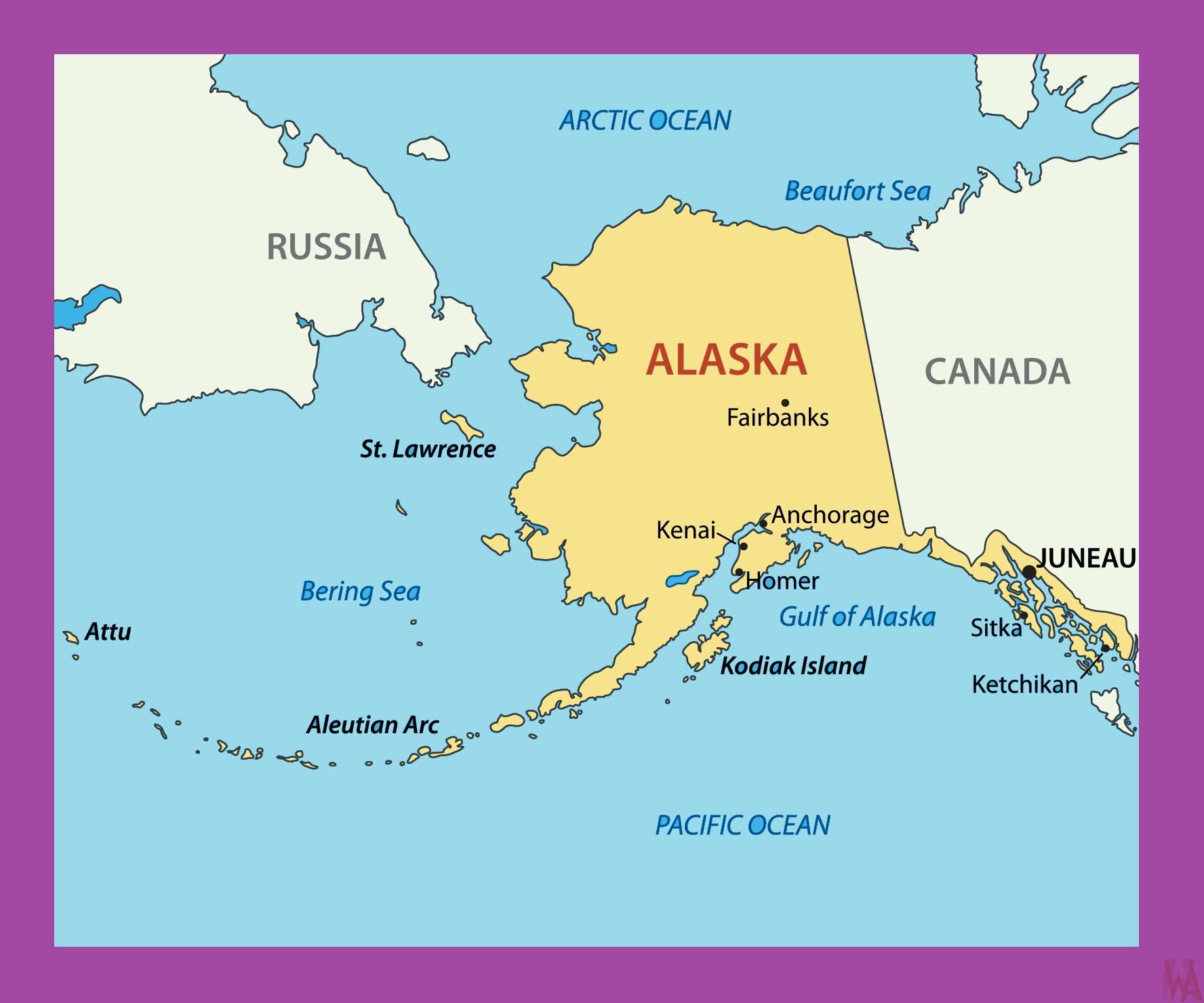 Alaska Political Map |  Political  Map of Alaska