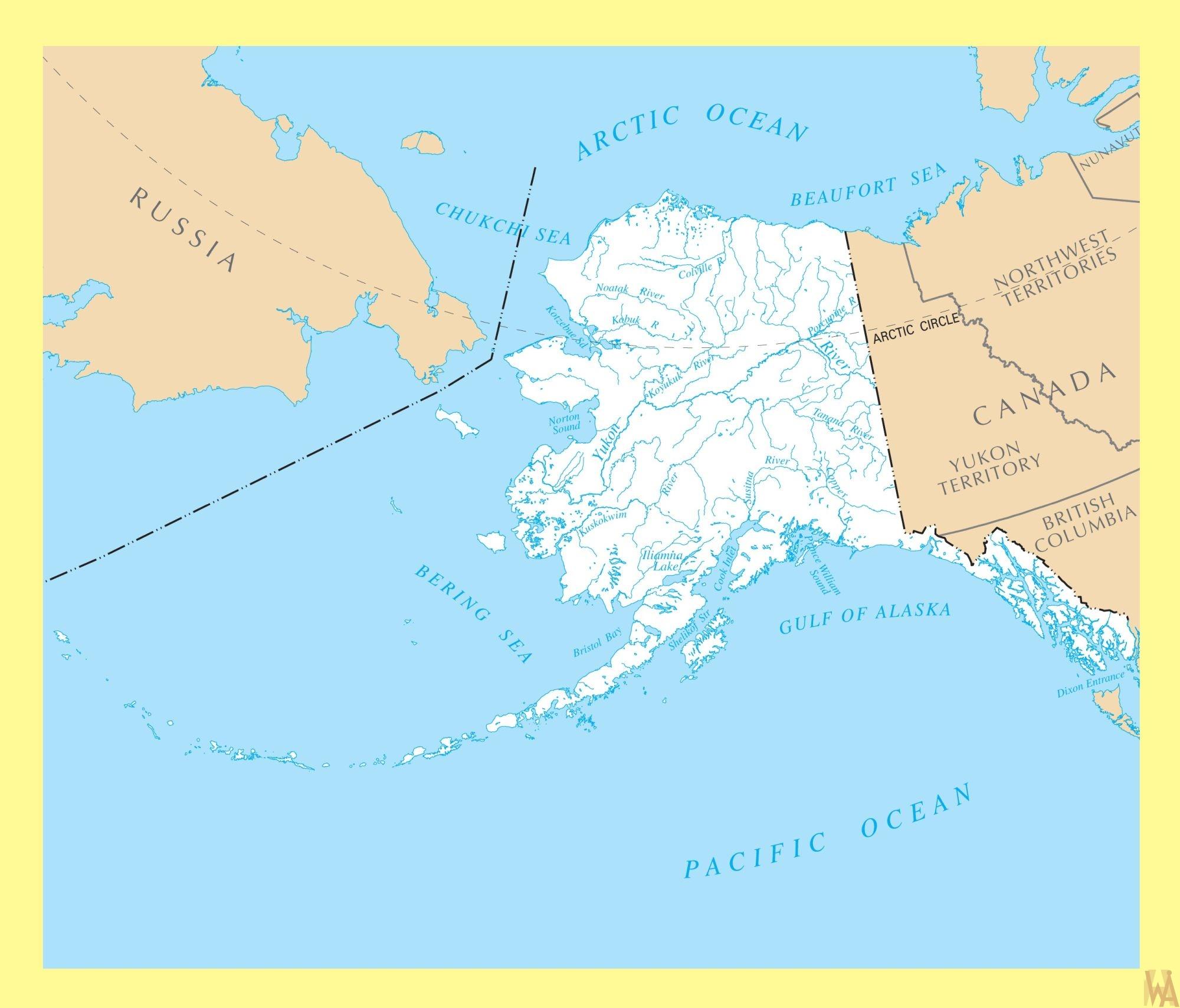 Alaska Rivers Map  |  Rivers  Map of Alaska