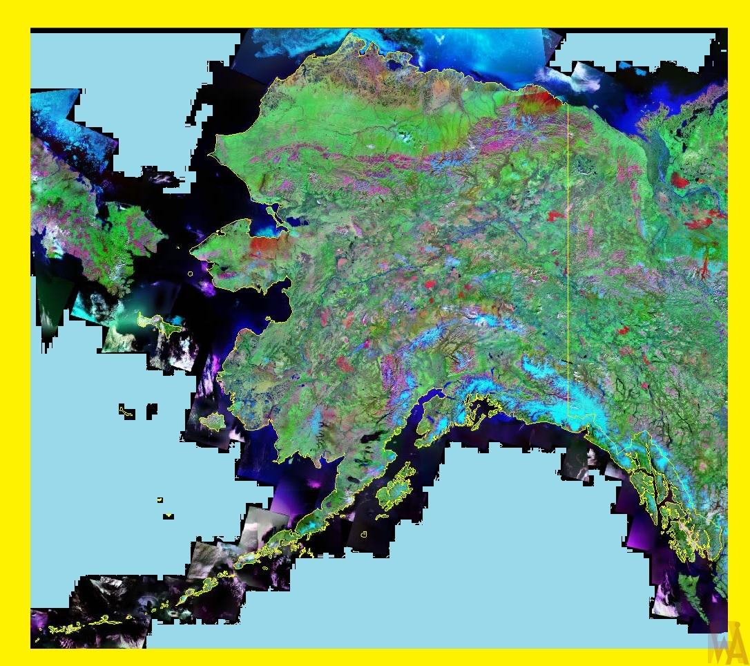 Alaska Satellite Map |  Satellite Map of Alaska