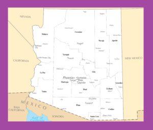Arizona Political Map Political Map of Arizona WhatsAnswer