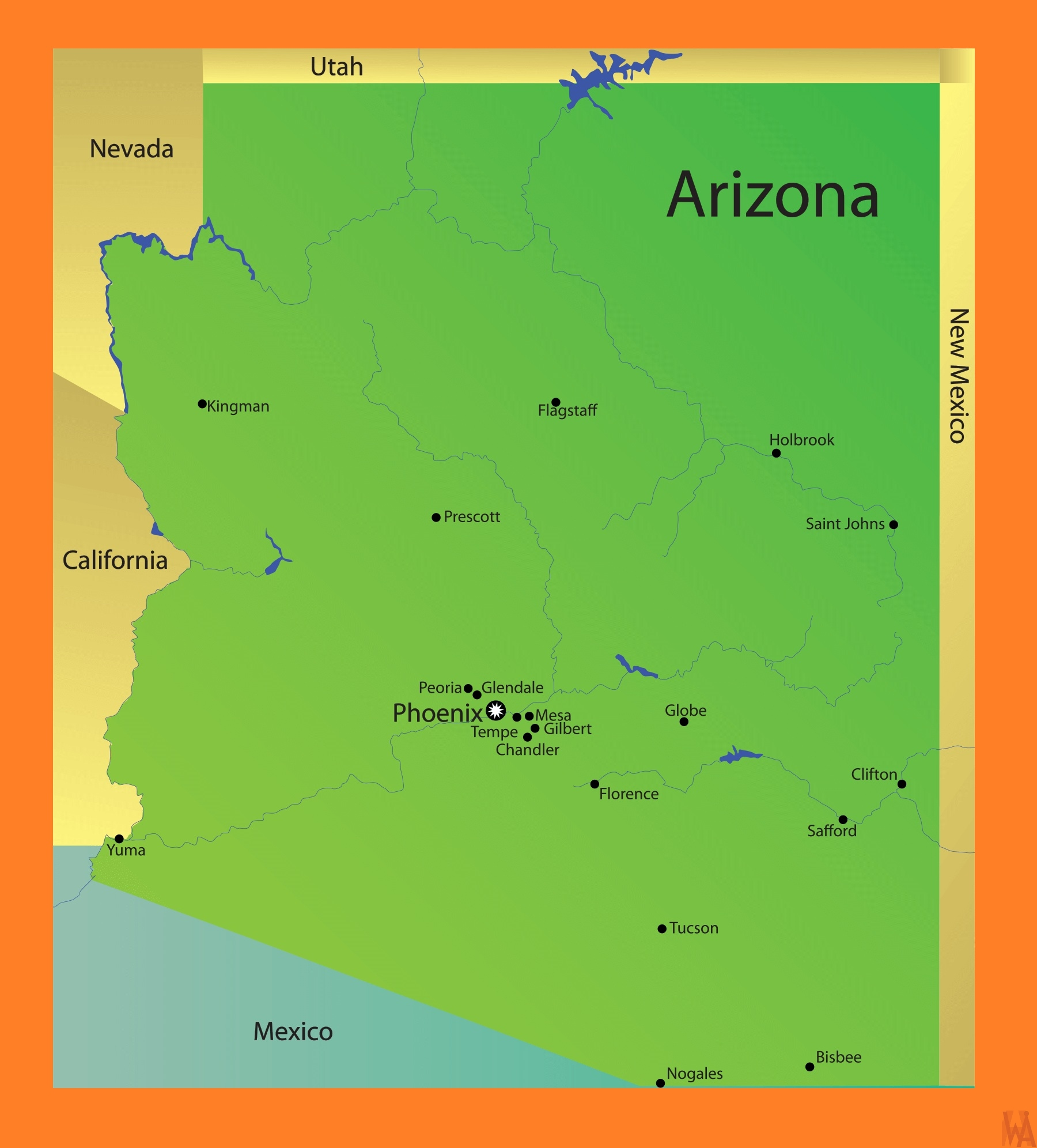 Arizona Detailed  Map |  Detailed  Map of Arizona