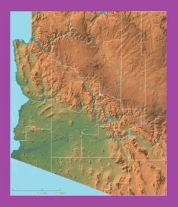 Arizona Physical  Map | Physical  Map of Arizona