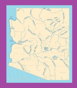 Arizona Rivers Map    Rivers  Map of Arizona – 1