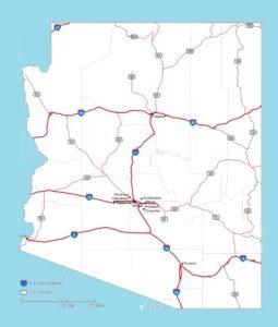 Arizona Roads Map    Roads  Map of Arizona