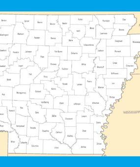 Arkansas County Map | County Map of Arkansas | WhatsAnswer