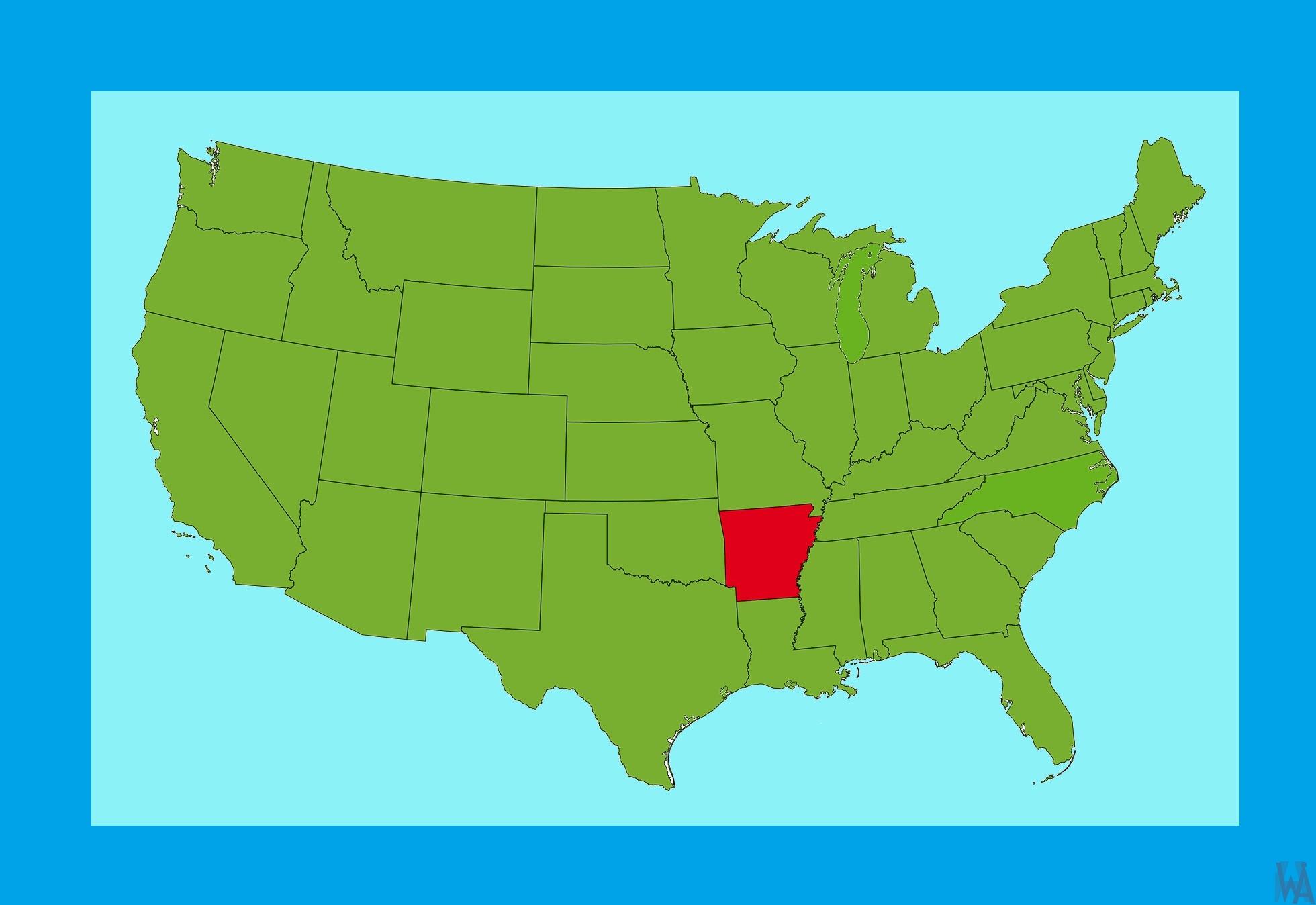 Arkansas Location  Map |  Location  Map of  Arkansas