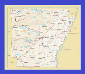 Arkansas Political Map | Political Map of Arkansas