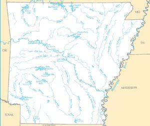 Arkansas River Map-1 |    River  Map of  Arkansas