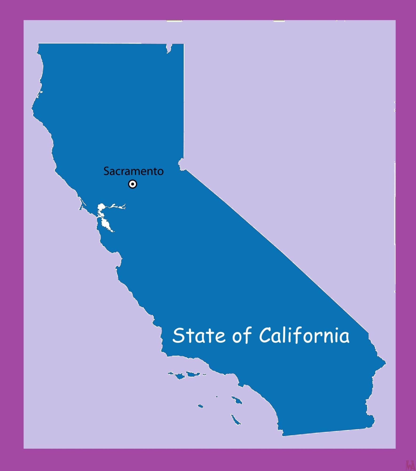 California Capital  Map | Capital  Map of California