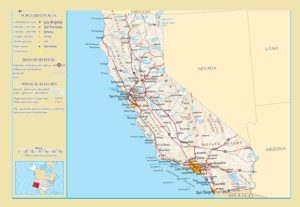 California Detailed  Map – 2 | Detailed Map of California