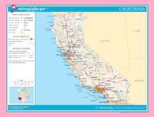 Map of California | Political, Physical, Geographical, Transportation, And Cities Map