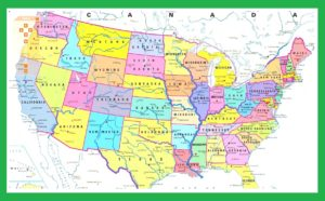 Interactive map of USA