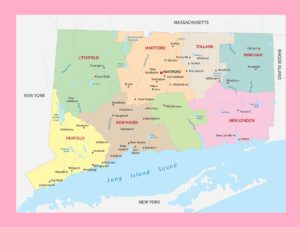 Connecticut Counties Map   Counties  Map Of Connecticut