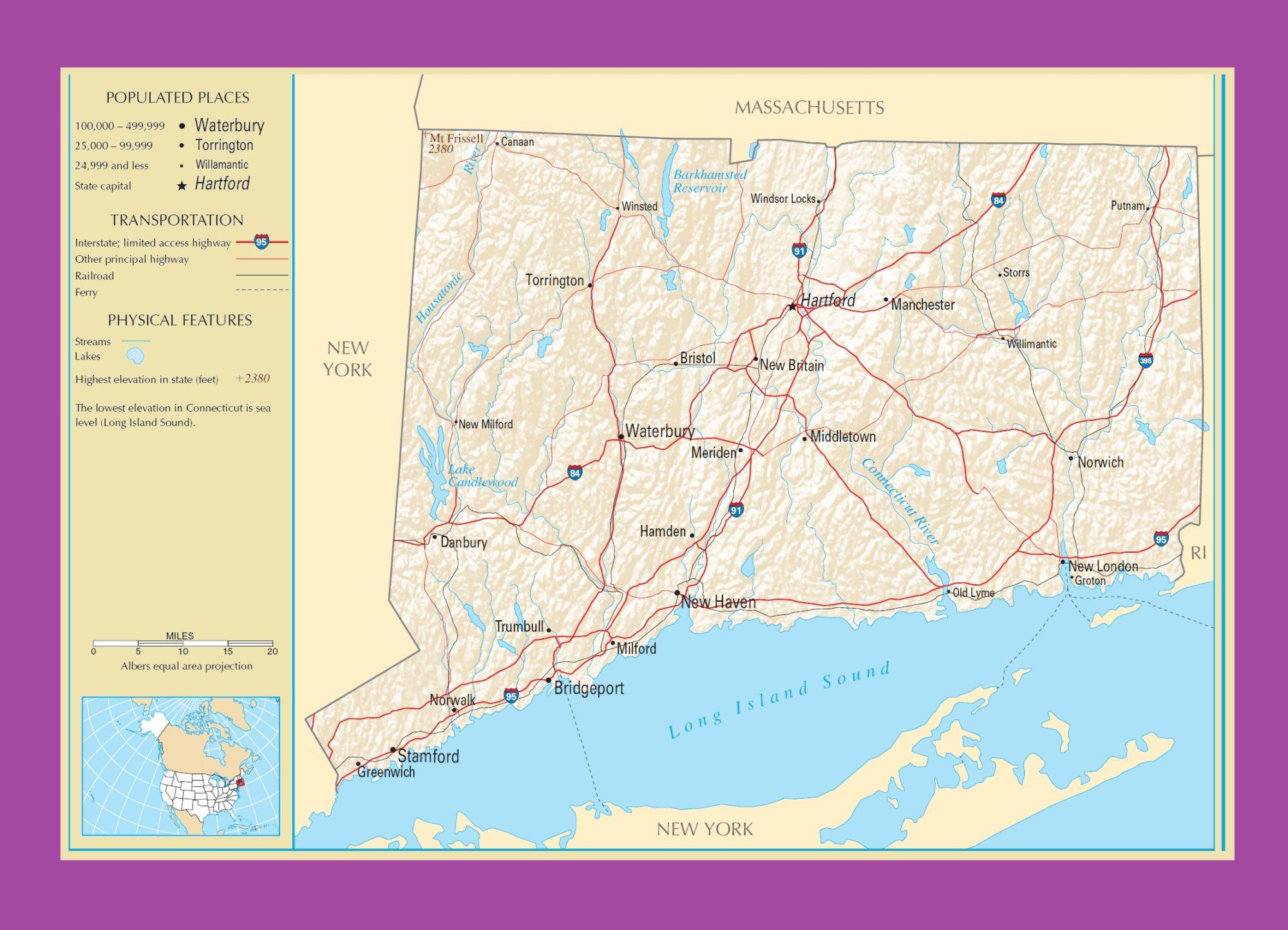 Connecticut Political Map   Political  Map Of Connecticut