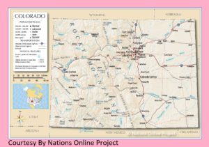 Transportation And Physical Map of Colorado | Large And Printable Map