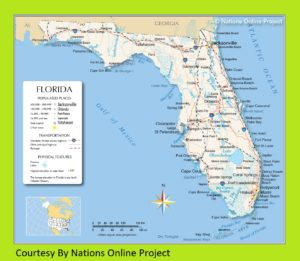 Transportation and Physical Map of Florida | Large, Printable Map