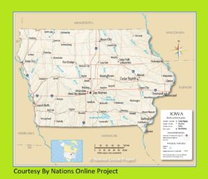 Iowa Transportation And Physical Map | Large Printable Map