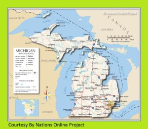 Michigan Transportation And Physical Map | Large And Printable Map