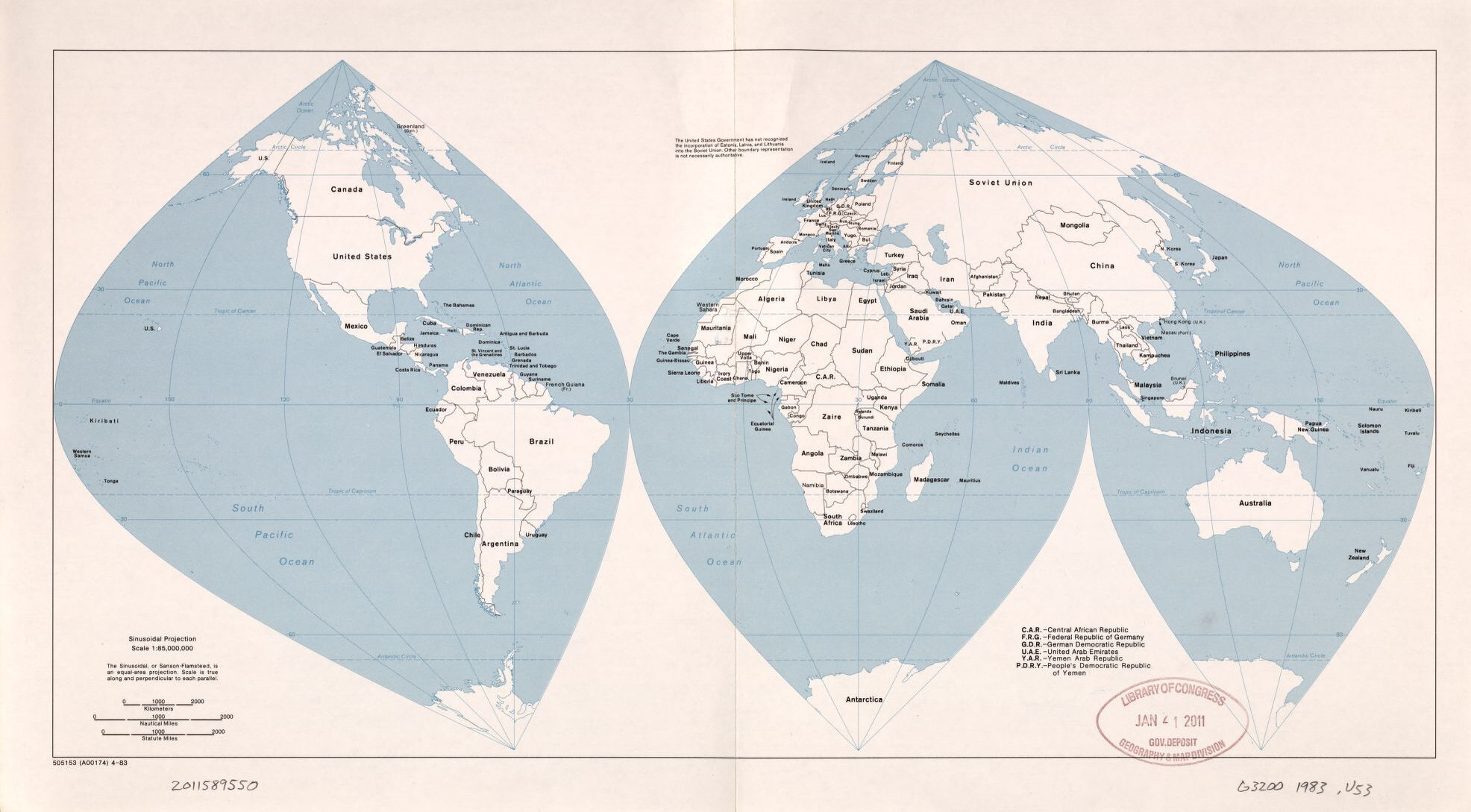 The World Antique Outline Map, 1983 | Large Printable, HD and Standard Map