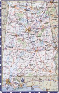 Road Map of Alabama | High Resolution, Large, City, Town, County Map