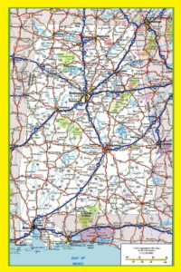 Alabama Large Highway  Map   Large Highway  Map of Alabama-city-county-political
