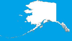 Alaska Blank Outline Map  | Large Printable