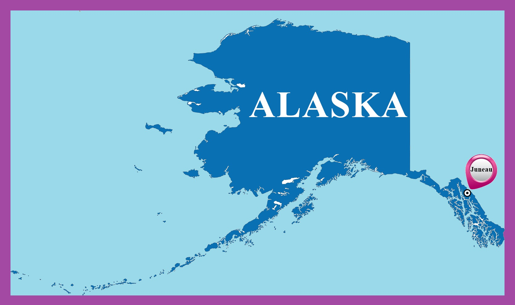 Alaska Capital Map  | Large Printable