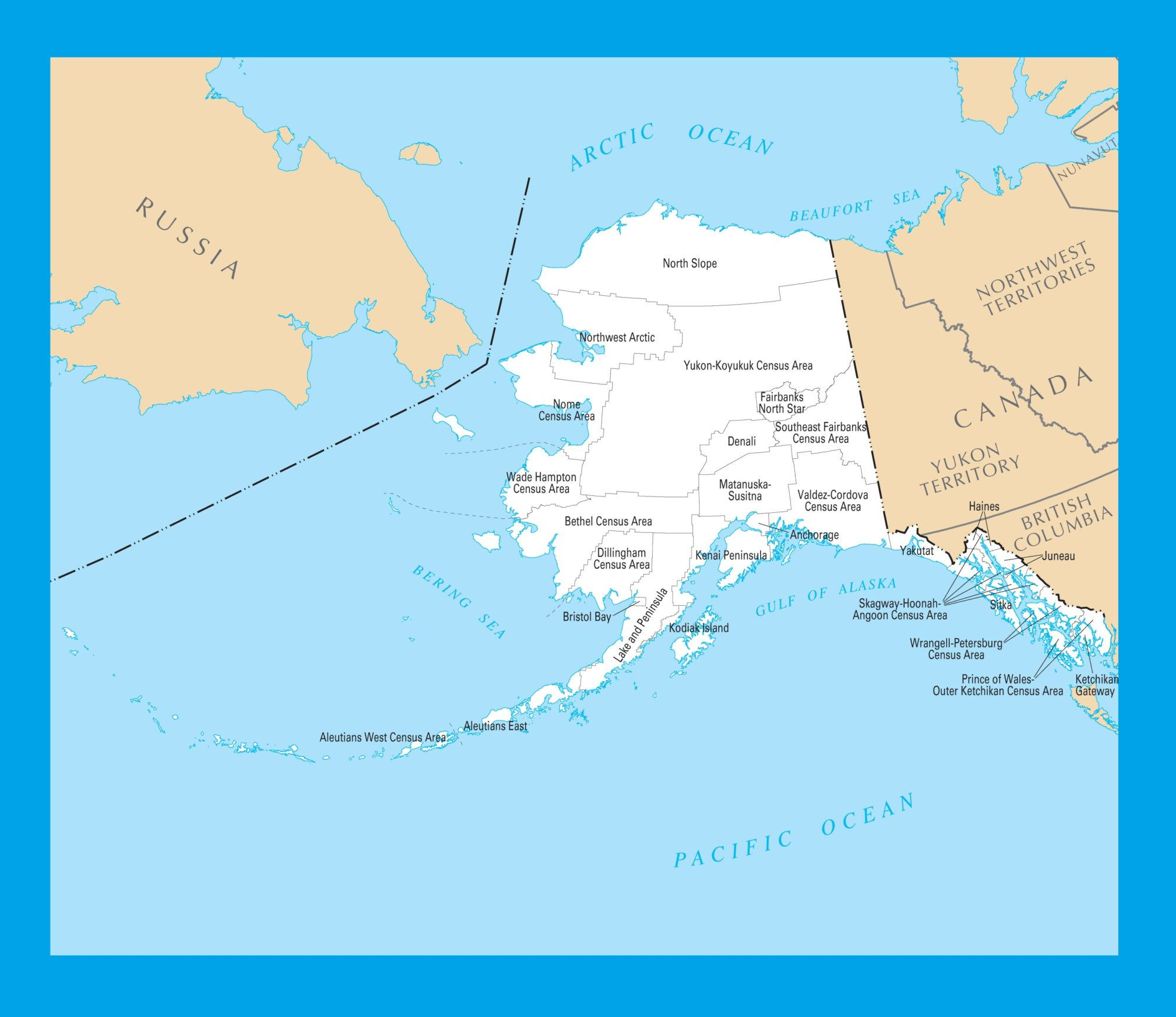 Alaska County Map   |  Large Printable 4