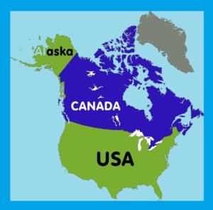 Alaska Location Map     Large, Printable