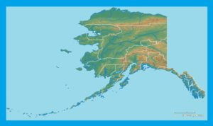 Alaska Physical Map  | Large Printable and Standard Map
