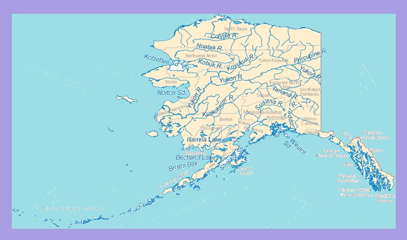 River Map of Alaska | Large Printable and Standard Map