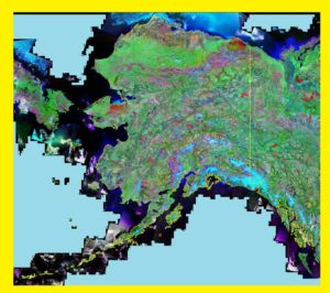 Alaska Satellite Map   Large Printable and Standard Map