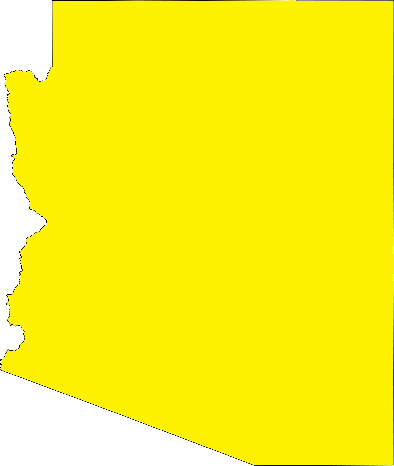 Arizona Blank Outline Map   Blank Outline Map of Arizona – 2
