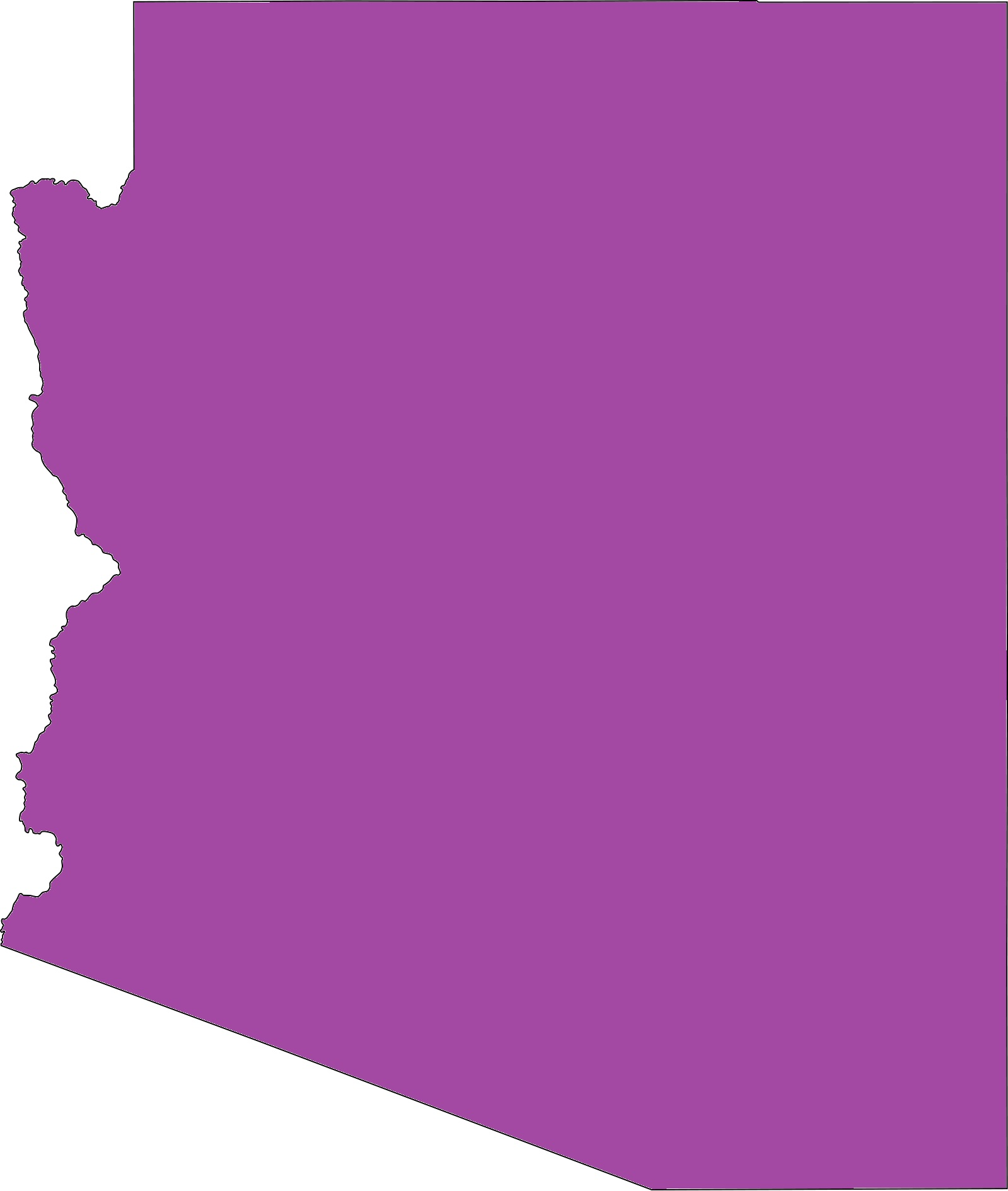 Arizona Blank Outline Map   Blank Outline Map of Arizona – 3