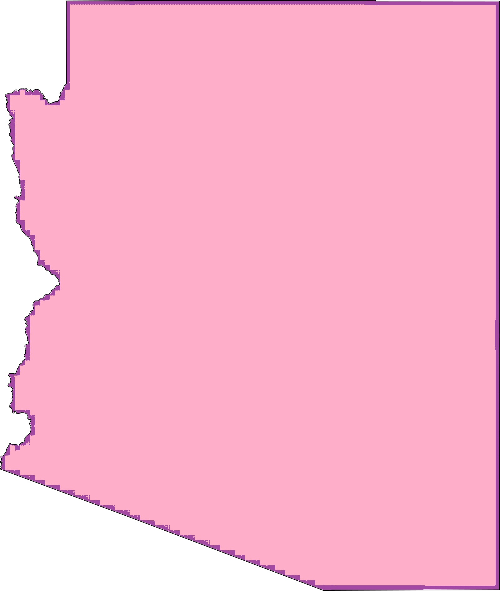 Arizona Blank Outline Map   Blank Outline Map of Arizona – 5