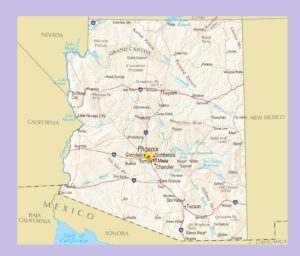 Arizona Political Map | Large Printable and Standard Map 2