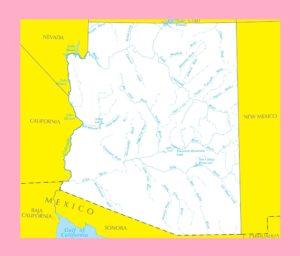 Arizona River Map | Large Printable and Standard Map 4